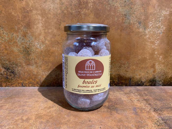 Bolletjes gevuld met honing